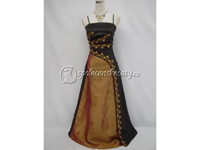 Černozlaté společenské šaty
