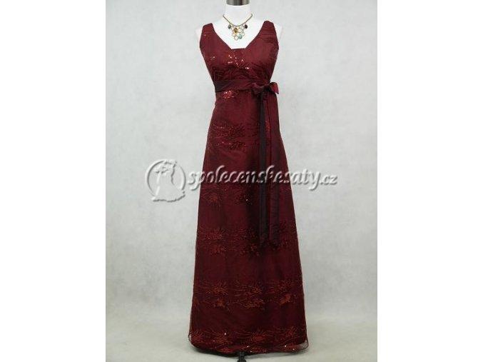 Červené společenské šaty se širšímu ramínky