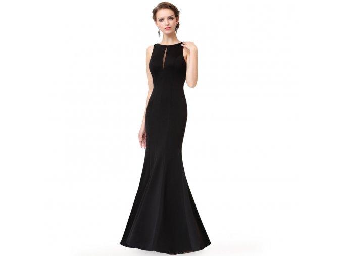 Černé dlouhé pouzdrové sexy společenské šaty na ples