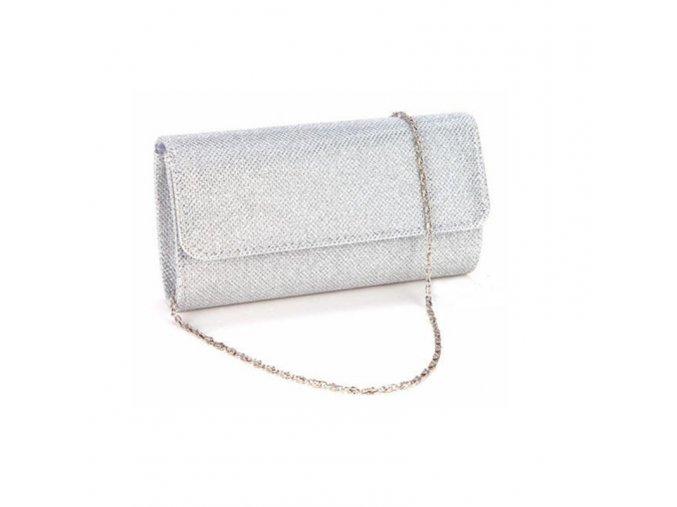 Stříbrná luxusní večerní kabelka
