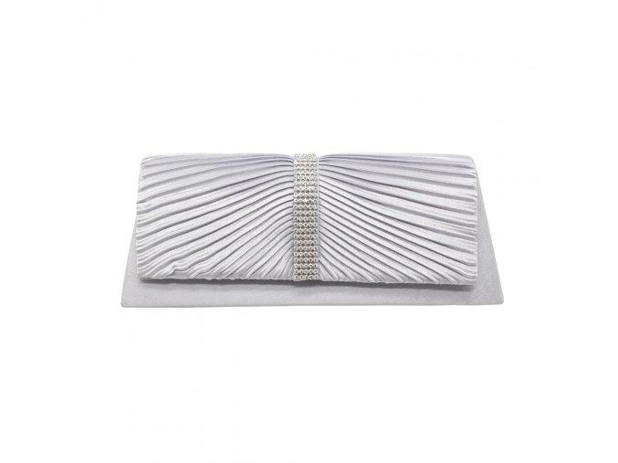Stříbrná šedá luxusní mini kabelka psaníčko na ples do společnosti do tanečních na svatbu
