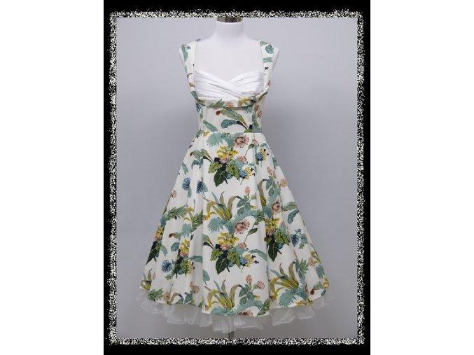Bílé barevné krátké společenské šaty po kolena se sexy výstřihem DR1685