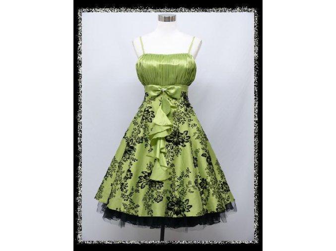 Zelené světlé krátké plesové šaty retro na ples DR1347