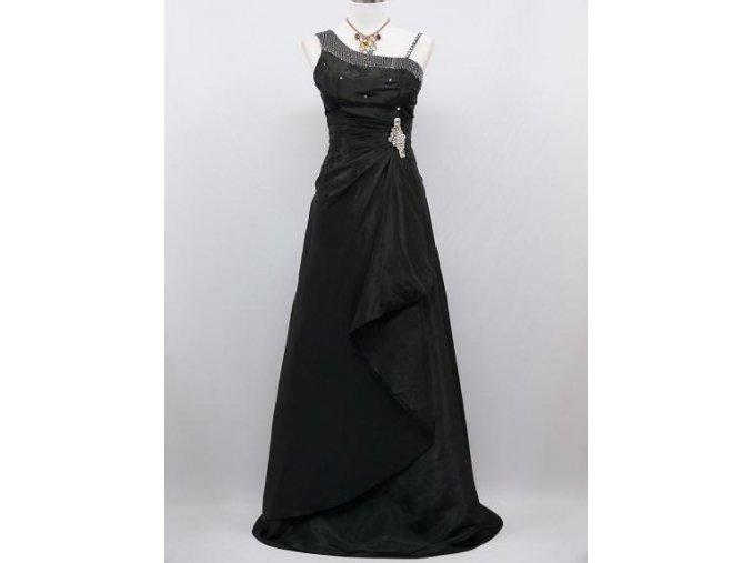Černé elegantní společenské šaty se štrasem na ples pro dámu B8536a