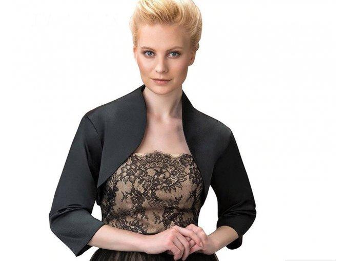 Černé krátké bolerko pro společenské šaty 2