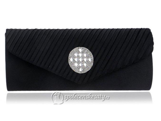 kabelka psanicko cerna s kulatou strasovou ozdobou rasena klopa k42 1