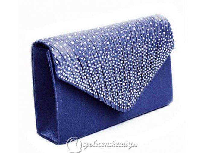 kabelka pasnicko modra s kaminky na klope k61