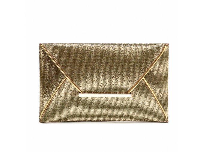 Zlatá metalická kabelka večerní psaníčko do ruky