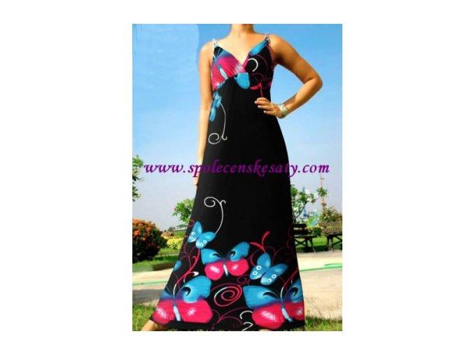 Letní dlouhé maxi šaty vel. M č. 7001