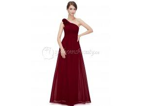 Červené dlouhé luxusní těhotenské společenské šaty těhotenské L190