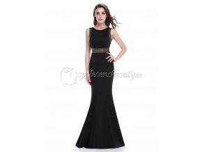 Černé dlouhé černé úplé sexy společenské šaty L212