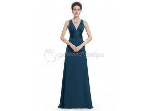 Modré šedé společenské šaty L225