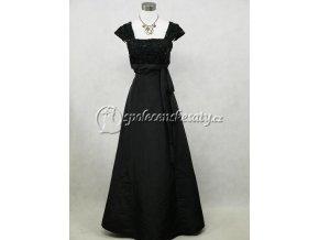 Černé dlouhé společenské šaty se širokými ramínky