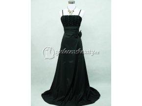 Černé dlouhé společenské šaty jednoduché