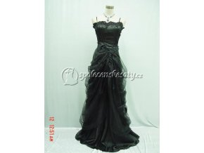 Černé dlouhé společenské šaty popelky