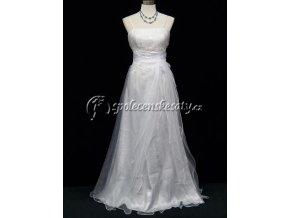 Bílé společenské svatební šaty vílí