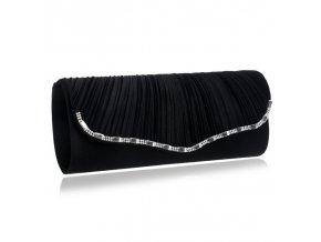 Černá luxusní večerní kabelka na ples s řetízkem přes rameno 1