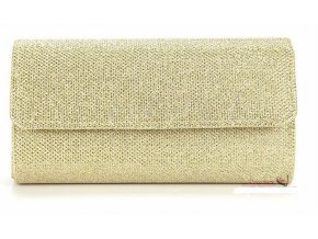 Zlatá luxusní večerní kabelka na ples s řetízkem přes rameno 1