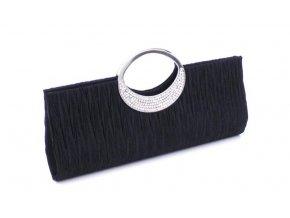Černá společenské kabelka psaníčko se stříbrnýcm uchem