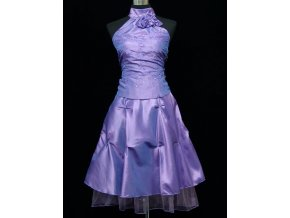 Lila fialové krátké společenské šaty do tanečních C4290
