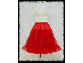 Červená spodnice spodnička pod koktejlky krátké společenské šaty