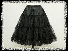 Černá spodnice spodnička pod krátké společenské šaty DR0191
