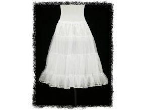 Bílá krátká spodnička pod krátké společenské šaty
