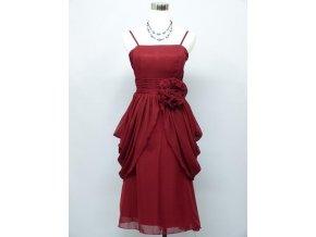 Červené krátké společenské šaty s nadýchanou sukní zeštíhlující C2927a
