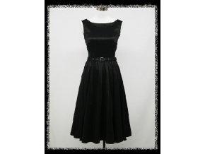 Černé klasické krátké společenské šaty koktejlky malé černé DR0512
