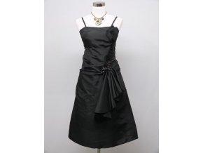 Černé krátké společenské šaty po kolena na ples do tanečních C2994a