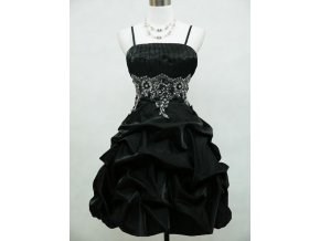 Černé krátké společenské šaty pro baculky B4465a