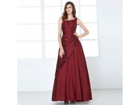 červené dlohé společenské šaty zavinovací na ples