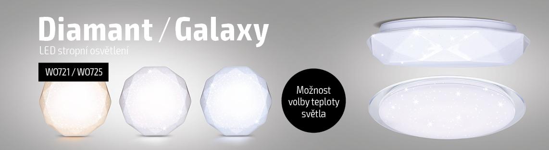 Solight - LED stropní svítidla Diamant & Galaxy