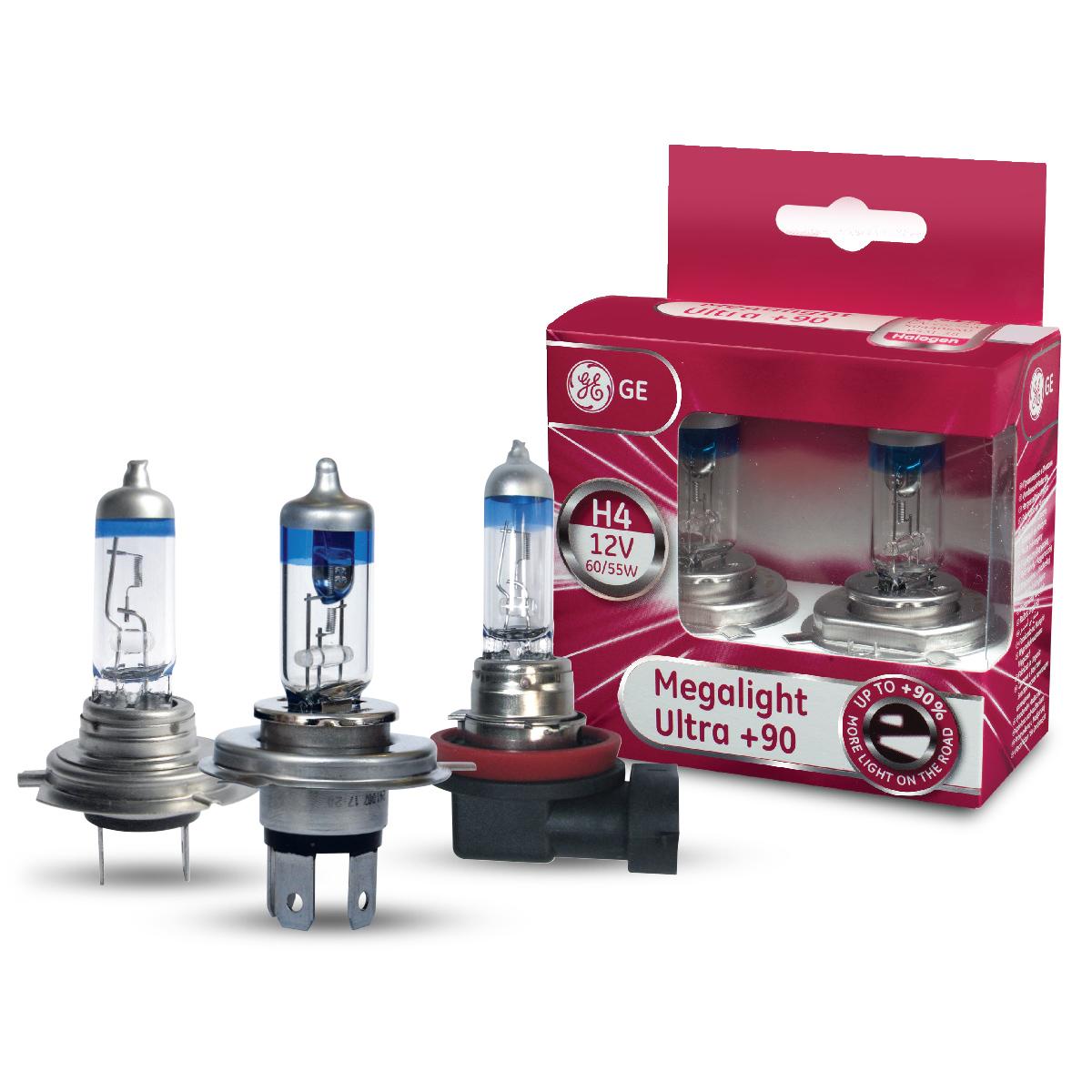 Autožárovky s vyšší svítivostí GE Megalight Ultra +90%