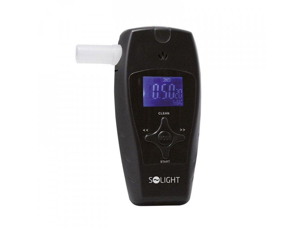 Alkohol tester profi, 0,0 - 3,0‰ BAC, citlivost 0,1‰, barevný displej, automatické čištění - Solight (1T04)