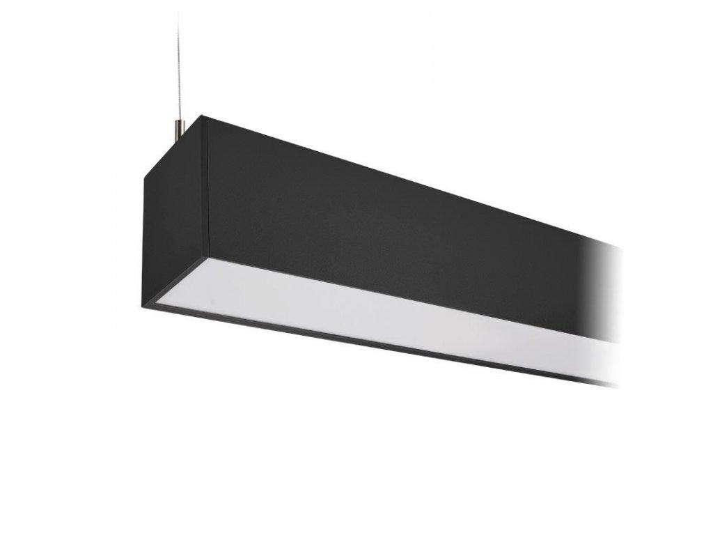 LED lineární závěsné osvětlení - 36W, 3060lm, 118cm, Lifud, 3 roky záruka, černá barva - Solight (WPR-36W-002)