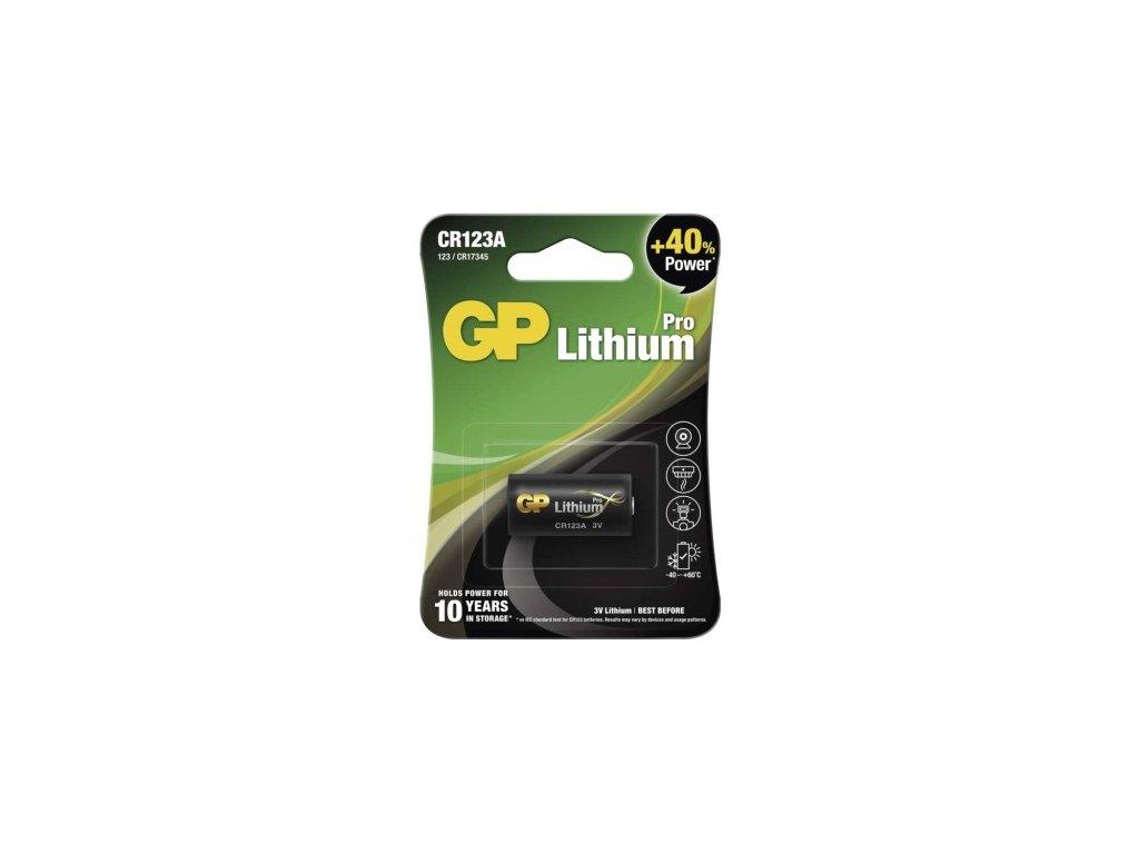 Foto lithiová baterie GP CR123A, blistr