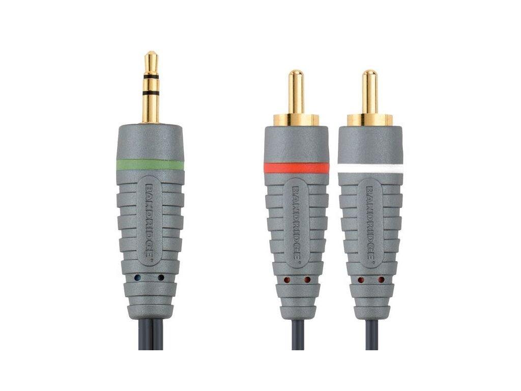 Bandridge audio kabel pro přenosná zařízení, 1m, BAL3401