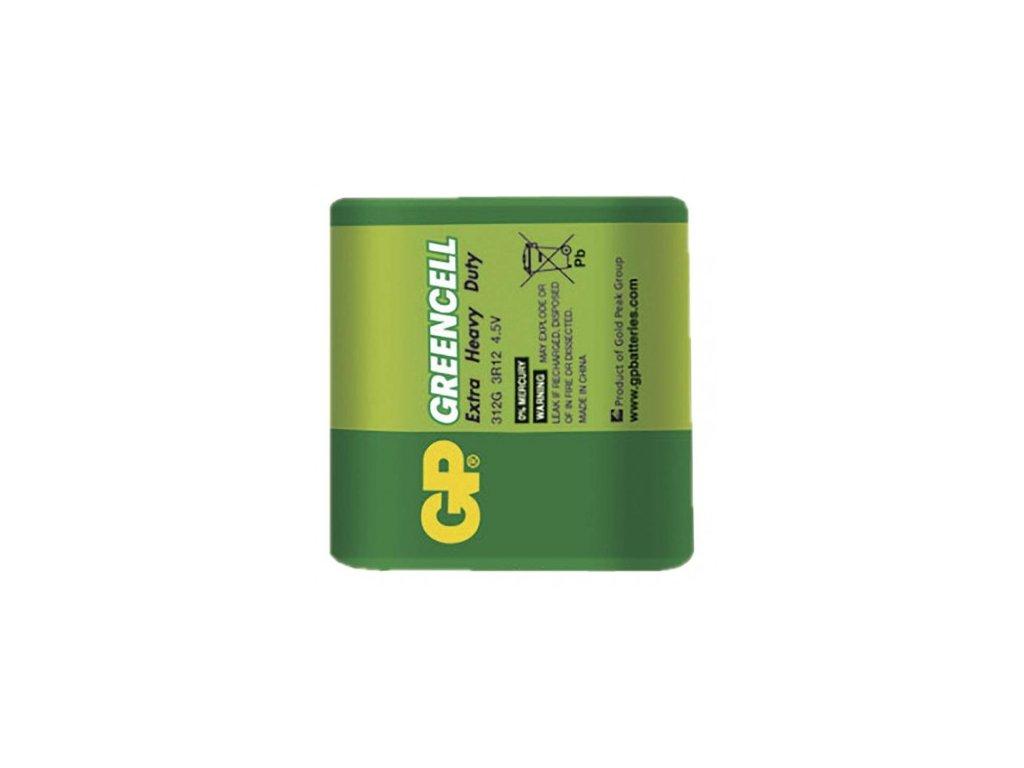 Zinkochloridová baterie GP Greencell 4,5V fólie