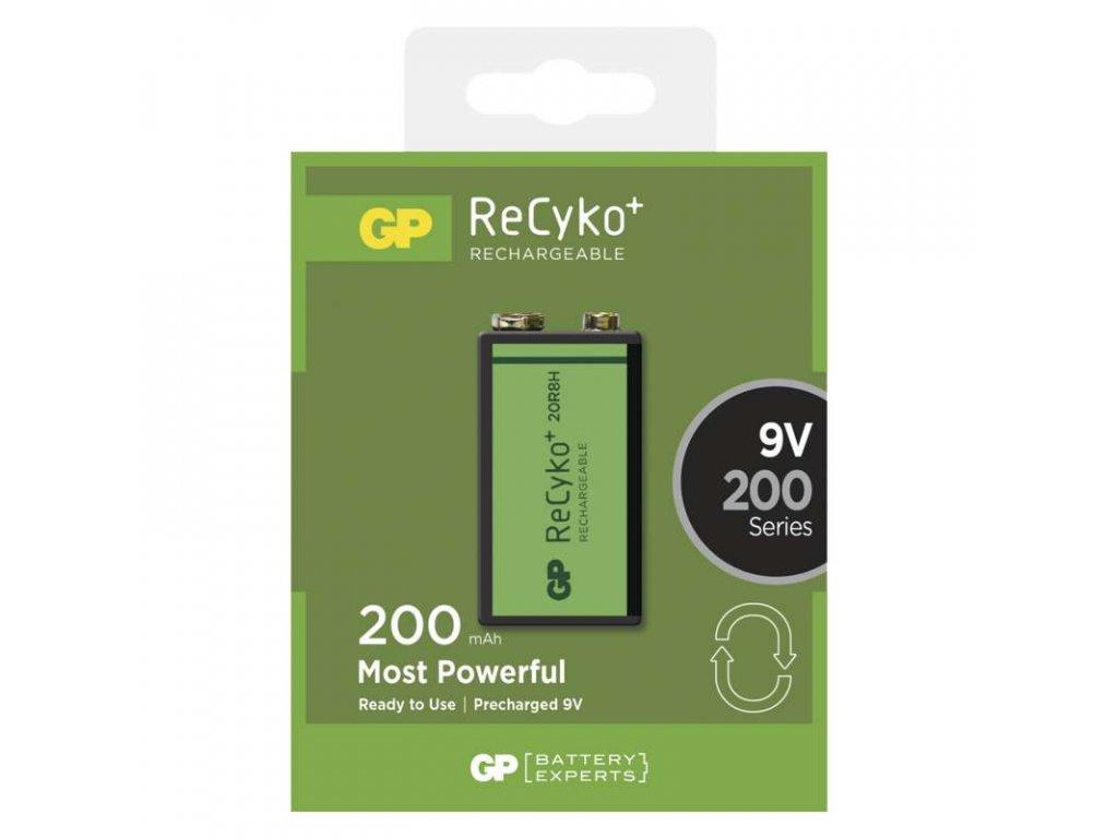 Nabíjecí baterie GP ReCyko+ 6F22 (9V), krabička