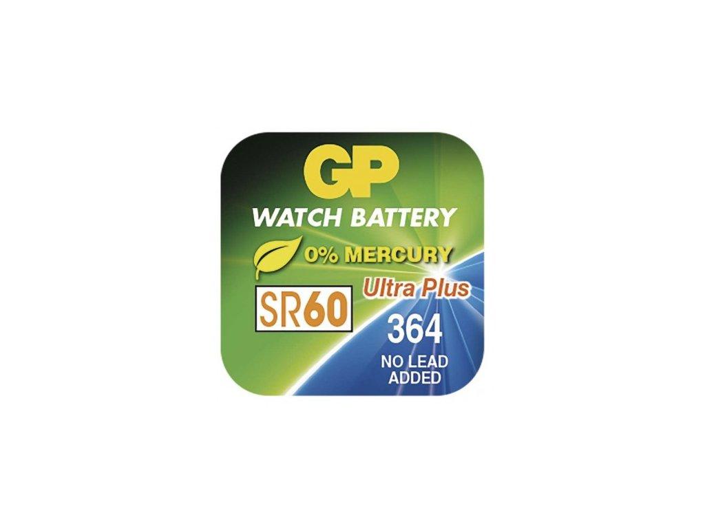 Knoflíková baterie do hodinek GP 364F, krabička