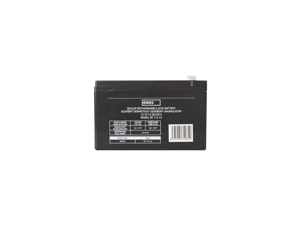 Bezúdržbový olověný akumulátor 12V 7,2Ah - Emos (B9654)