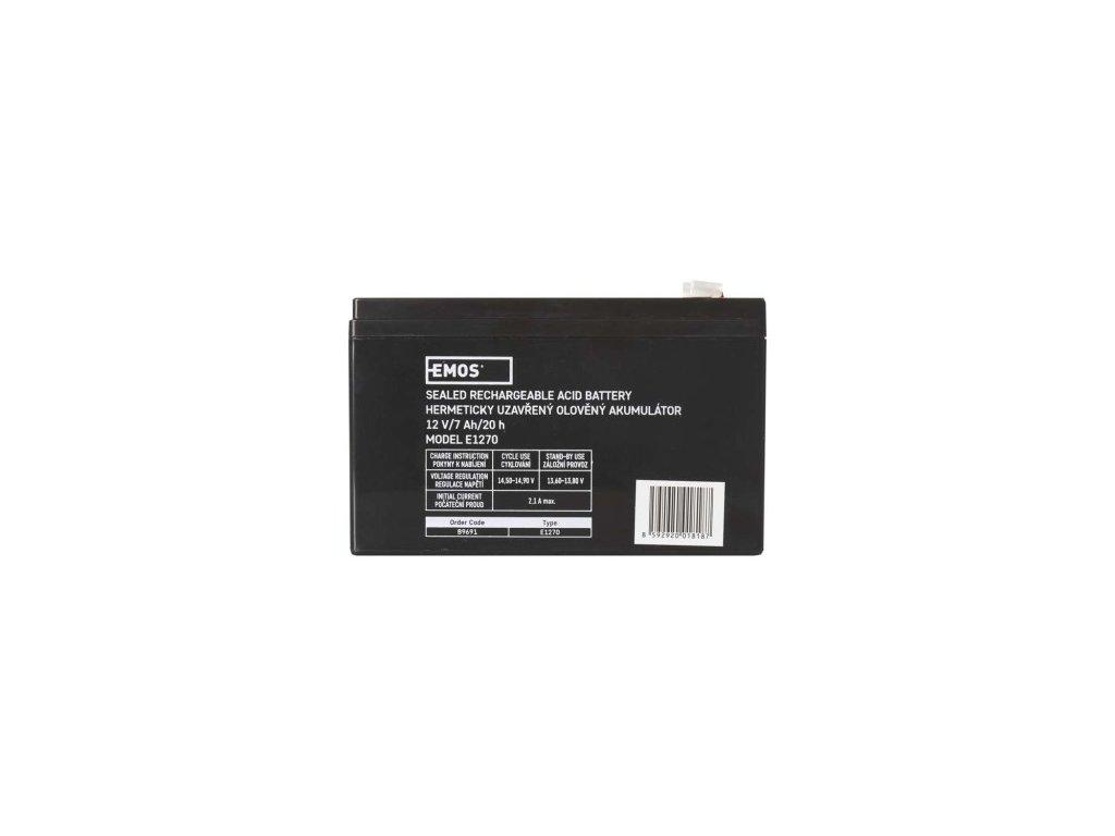 Bezúdržbový olověný akumulátor 12V 7Ah - Emos (B9691)