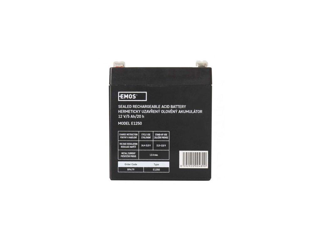 Bezúdržbový olověný akumulátor 12V 5Ah - Emos (B9679)