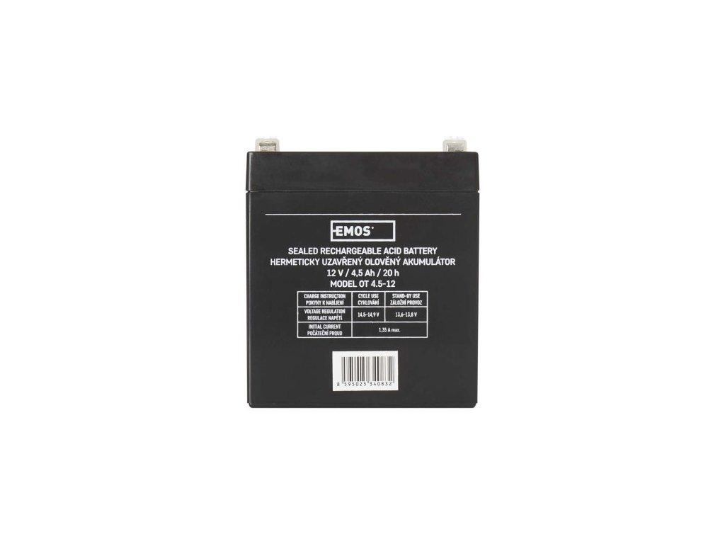 Bezúdržbový olověný akumulátor 12V 4,5Ah - Emos (B9653)