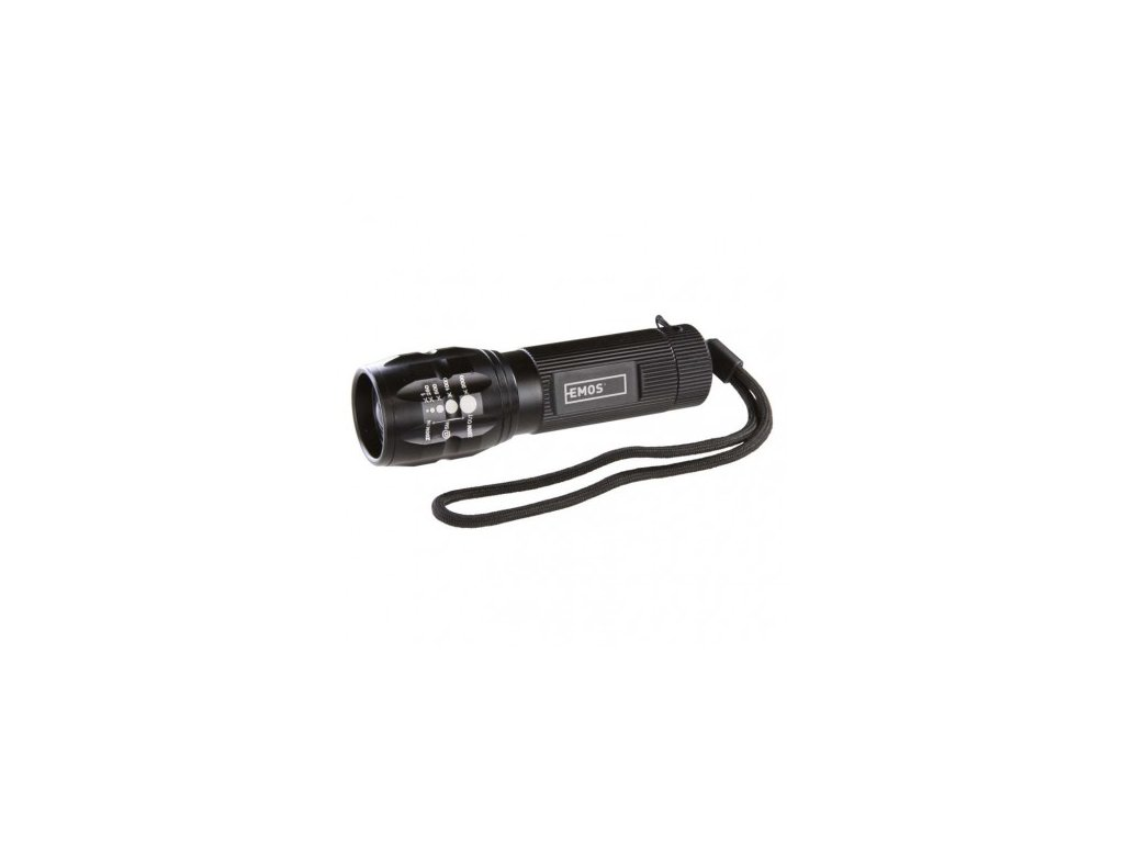 LED svítilna kovová, 1x CREE LED 3W, na 3x AAA, FOKUS - Emos (P3830)