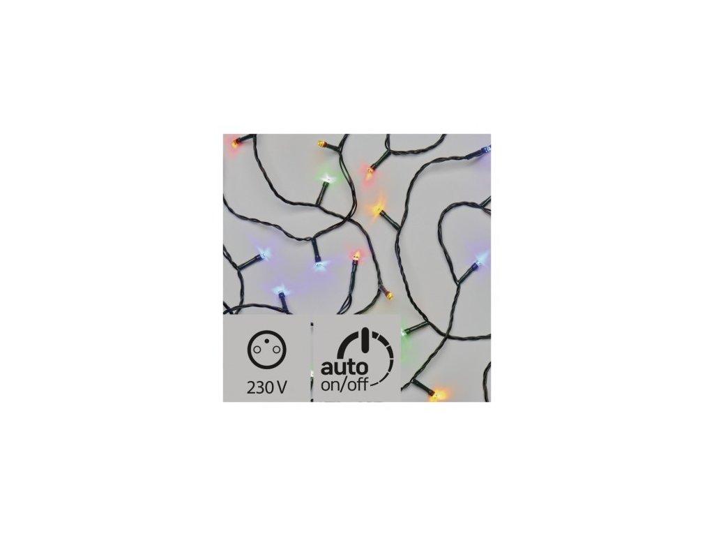 Vánoční LED řetěz - rýže - 500xLED, 50+5 metrů, IP44, multicolor, časovač - Emos (ZY0816T)