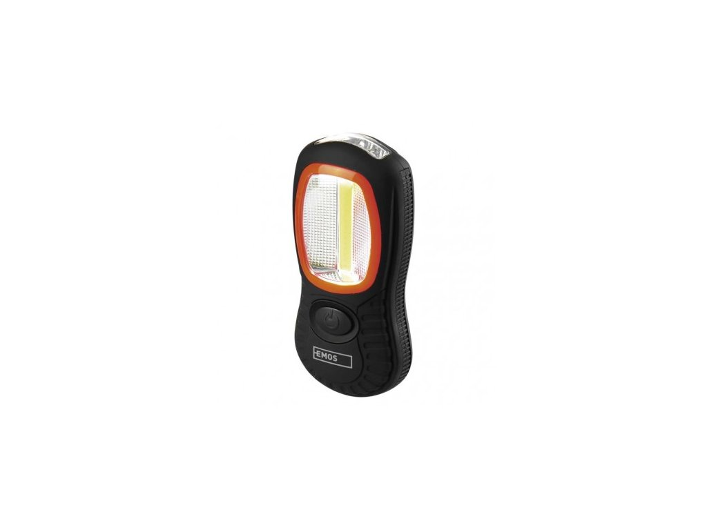 LED svítilna plastová, 3W COB LED + 3x LED, na 3x AAA - Emos (P3883)