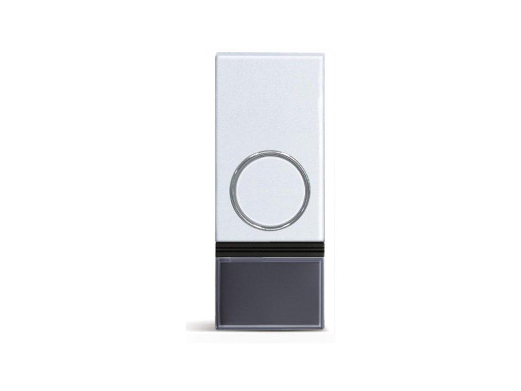Solight bezdrátové tlačítko pro 1L28 a 1L29, 200m, bílé, learning code, kryt na jmenovku (1L92)
