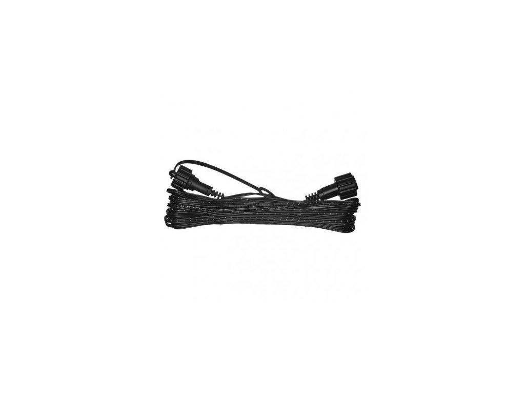 Prodlužovací kabel k LED spojovacím řetězům - 10 metrů, IP44, černý - Emos (ZY1444)